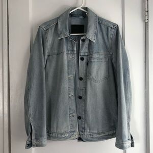 Levi's Line 8 faded blue denim jacket S